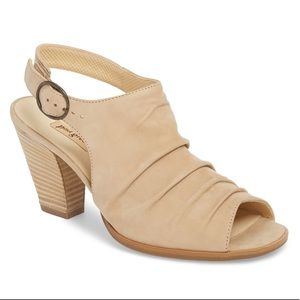 Paul Green Suede Open Toe Slingback Heels 9.5 10